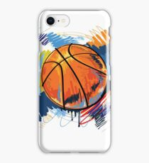 Basketball graffiti art iPhone Case/Skin