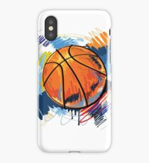 Basketball graffiti art iPhone Case