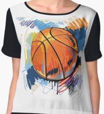 Basketball graffiti art Chiffon Top