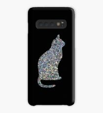 Holo Linear Glitter Cat Case/Skin for Samsung Galaxy