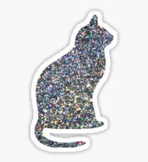 Pegatina Holo Linear Glitter Cat