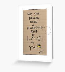 BUMBLING BEEDAY  Greeting Card