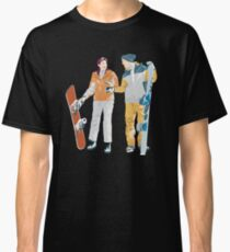 Snowboard boy amp girl illustration Classic T-Shirt