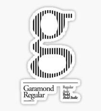 The Letter G Garamond Type Sticker