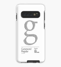 The Letter G Garamond Type Case/Skin for Samsung Galaxy