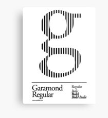 The Letter G Garamond Type Metal Print