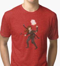 pixel raider Tri-blend T-Shirt