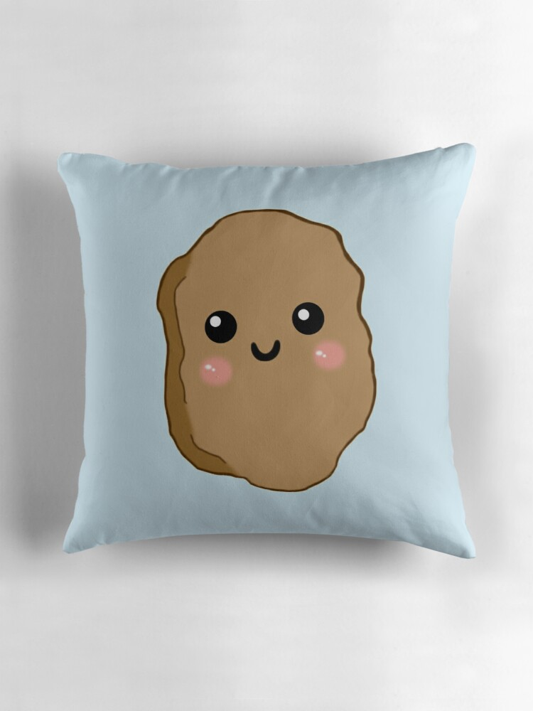 Quot Kawaii Chicken Nugget Quot Throw Pillows By Hannah Woolgar