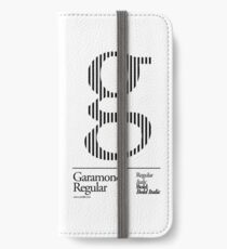 The Letter G Garamond Type iPhone Wallet/Case/Skin