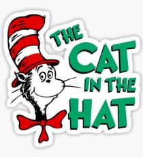 The Cat In The Hat Dr Seuss Sticker