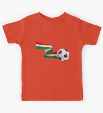 Abstract 3d Italy flag football ribbon tails Kids Tee