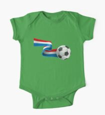 Abstract 3d France flag football ribbon tails One Piece - Short Sleeve