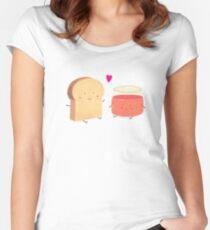 Bread loves jam Women's Fitted Scoop T-Shirt