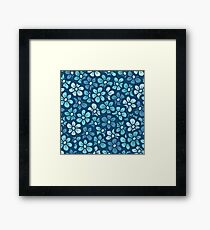 Cute blue flower  pattern Framed Print
