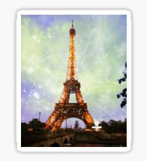 Eiffel Tower, Starry Night Sticker