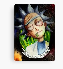 Rick (without Morty) Watercolor Canvas Print