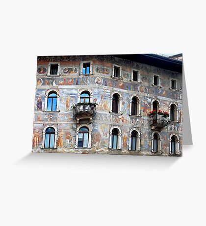 Wall decorations in Trento - Italy Greeting Card