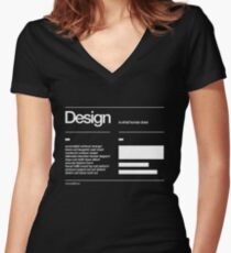 Design Women's Fitted V-Neck T-Shirt