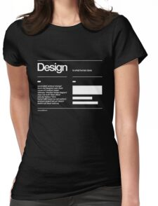 Design Womens Fitted T-Shirt