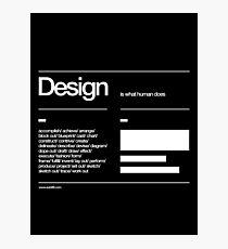 Design Photographic Print