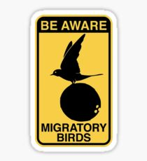 MONTY PYTHON BIRD COCONUT Sticker