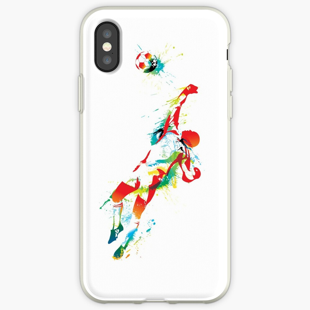 Bunter Spritzenfußball-Torhüter iPhone-Hülle & Cover