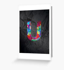 Fun Letter - U Greeting Card