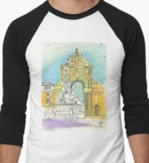 Terreiro do Paço. Men's Baseball ¾ T-Shirt