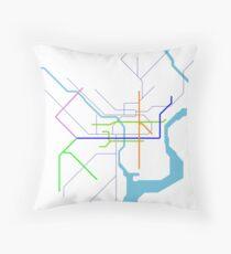 Subway Series- Philadelphia Throw Pillow