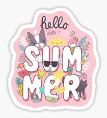 Hello Summer Sticker