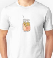 Mason Jar Summer Sun Ice Tea in Watercolor T-Shirt