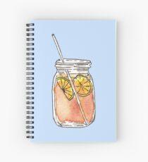 Cuaderno de espiral Mason Jar Summer Sun Ice Tea en acuarela
