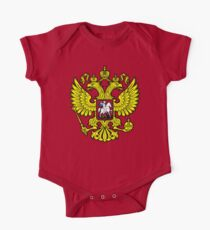 RUSSIA, RUSSIAN, Coat of Arms of the Russian Federation, ON red Kids Clothes