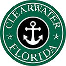 CLEARWATER FLORIDA ROUND ANCHOR NAUTICAL STAR  by MyHandmadeSigns