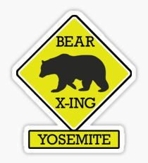 YOSEMITE NATIONAL PARK CALIFORNIA BEAR CROSSING X-ING Sticker