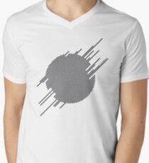 ABshapes in a disc  Men's V-Neck T-Shirt