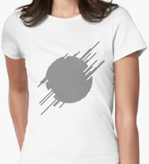 ABshapes in a disc  Women's Fitted T-Shirt