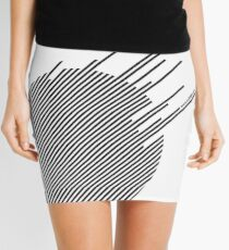 ABshapes in a disc  Mini Skirt