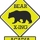ACADIA NATIONAL PARK MAINE BEAR CROSSING X-ING by MyHandmadeSigns
