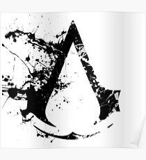 Splatter Paint Assassins Creed Logo Poster
