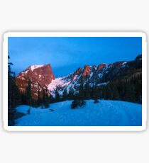 Aplenglow - Hallett Peak, Rocky Mountain National Park Sticker