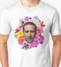 Nicolas Cage - Floral Unisex T-Shirt