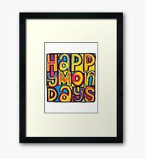 Happy Mondays Logo Framed Print