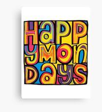 Happy Mondays Logo Canvas Print