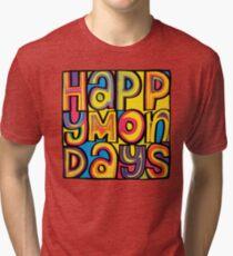 Happy Mondays Logo Tri-blend T-Shirt