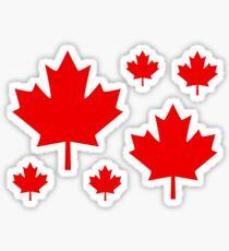 Canada Maple Leaf Flag Emblem Sticker