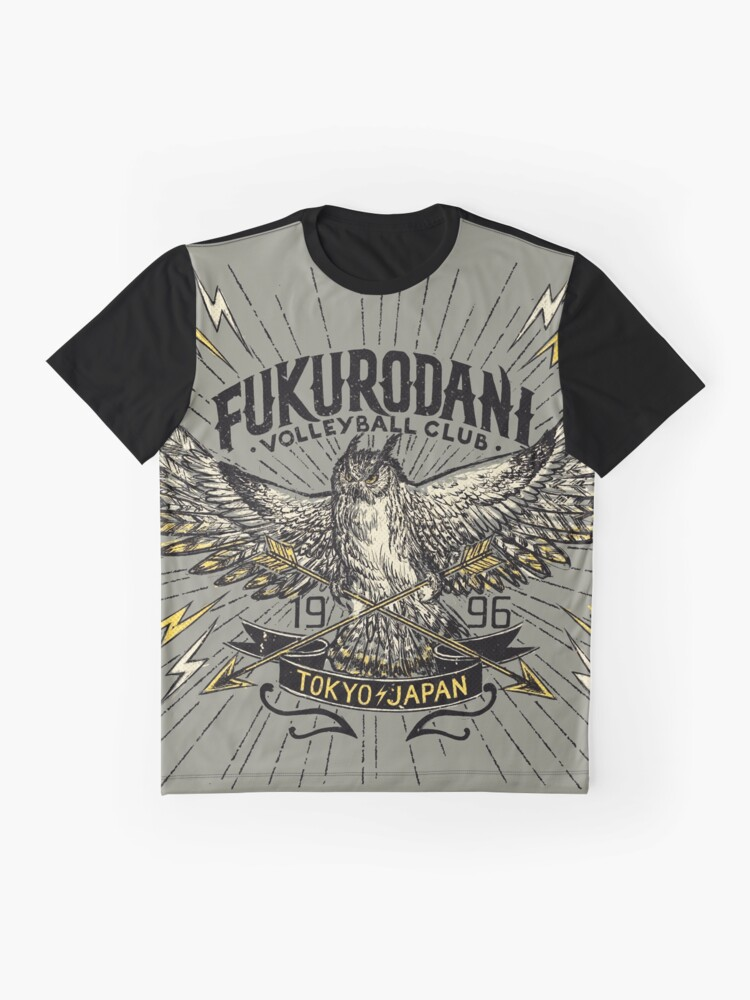 Alternate view of Haikyuu Team Types: Vintage Fukurodani Graphic T-Shirt