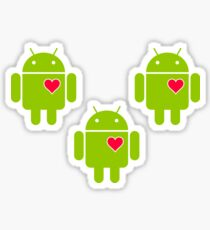 Android Robot Love Sticker
