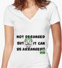 Deranged Women's Fitted V-Neck T-Shirt