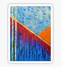 Pollution - Original Abstract Painting Sticker